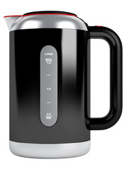 Black kettle with red contour