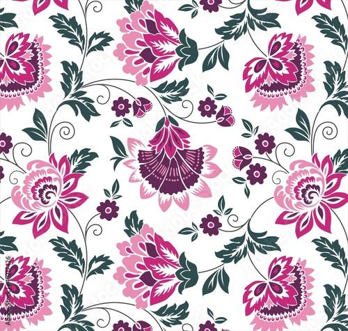 Quot Water Lilies Floral Pattern Colorful Textile Design