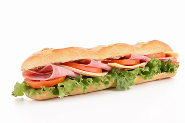 Foto op Plexiglas Snack isolated sandwich