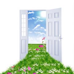 Open door leading to summer