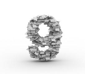 Big pile of paper, number 9