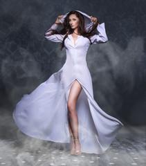 Obraz Portrait of a beautiful sexy young woman - fototapety do salonu