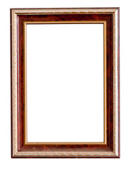wooden frame isolate on white background