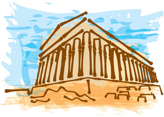 Greek ancient building