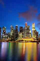 Foto op Plexiglas Singapore city night view for singapore