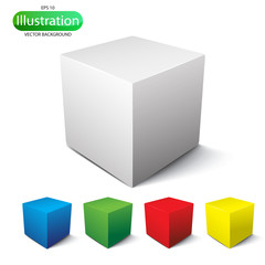 Cube on a white background