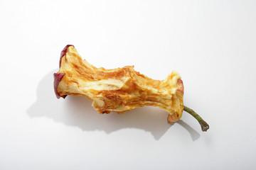 Ein fast aufgegessener Apfel