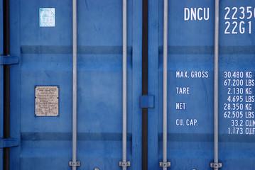 Cargo container locked