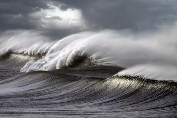 Autocollant pour porte Eau Stormy waves