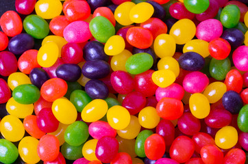Garden Poster Candy Assortment of Jelly Beans for background