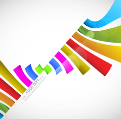 Urban designed stylized colorful Vector