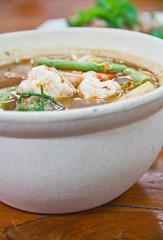 Hot and sour shrimp.