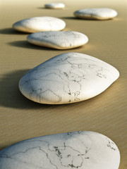 Wall Mural - stones in the sand