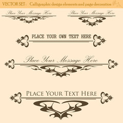 Vector Set of Vintage Design
