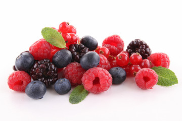 Photo sur Aluminium Fruit assortment of berries