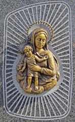 Sterbebild - Madonna mit Kind