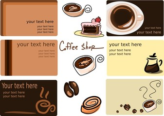 business cards and images (coffee theme)