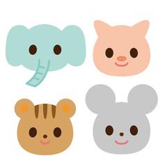動物 4種類 ゾウ ブタ リス ネズミ
