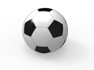 Fototapeta Piłka nożna wyizolowana na białym tle