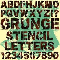 Stencil Letters