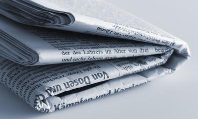 Zeitung gefaltet