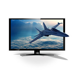 3D TV and fighter jet