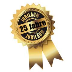 25 Jahre - Jubiläum gold