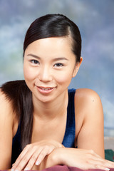 Asian girl with beautiful smile for the camera