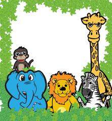 Animal team vector illustration