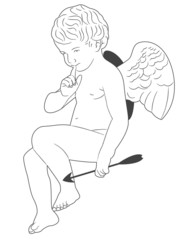 Qute Cupid with arrow