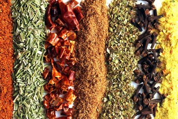 mixed lines from spices texture