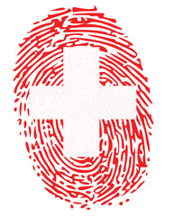 Thumbprint  Flag Colors of Switzerland