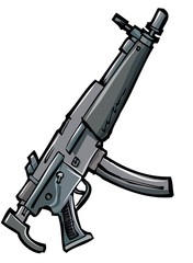 Illustration of an automatic rifle