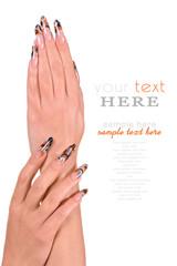 Beautiful Female Hands manicure concept