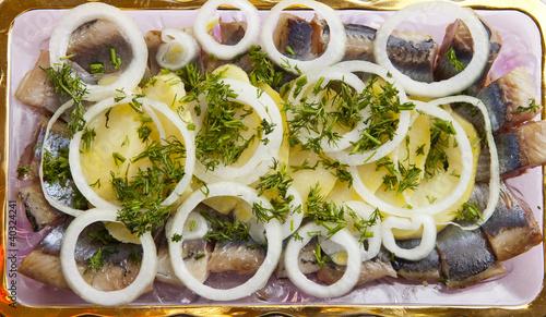 Салат русская закуска фото из селедки