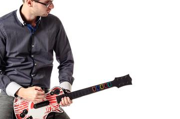 Young guitar artist