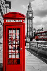 Obraz Kabina telefoniczna w Londynie - fototapety do salonu