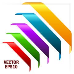Vector award ribbons set