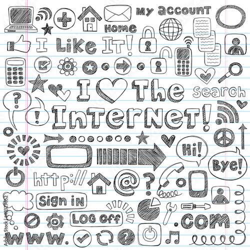 """Web Sketchy Doodle Computer Icons Vector Design Elements ..."