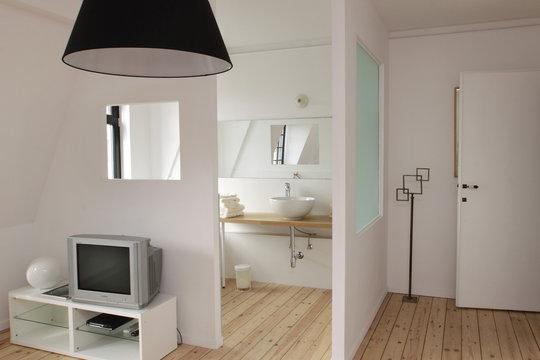 aménagement chambre, salle de bain