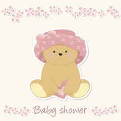 Baby Shower - Orsetta romantica - romantic bear