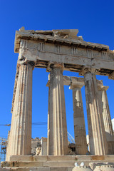 the Parthenon on Acropolis