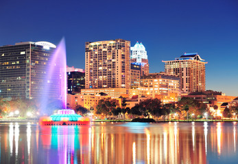 Wall Mural - Orlando at night