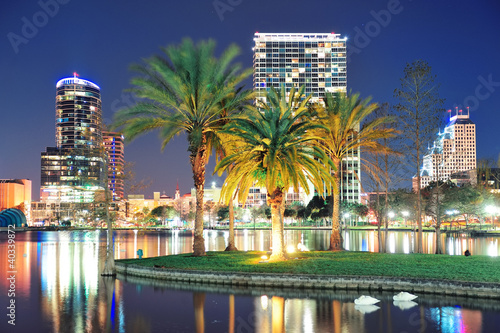 Fototapete Orlando night scene