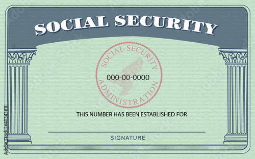 Security Social Download Card Font