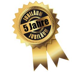 5 Jahre - Jubiläum gold