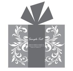 Gift box card
