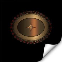 Emblem details. Gold.