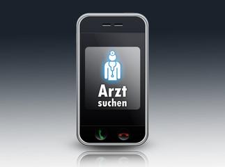 """Smartphone """"Arzt suchen"""""""