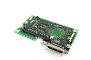 Old electronics circuit board for printer